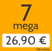 Adsl 7 Mega e telefonate a tutti i fissi nazionali a 26,90 €/mese invece di 41,00 €/mese